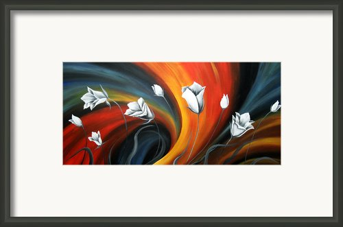 Glowing Flowers 5 Framed Print By Uma Devi