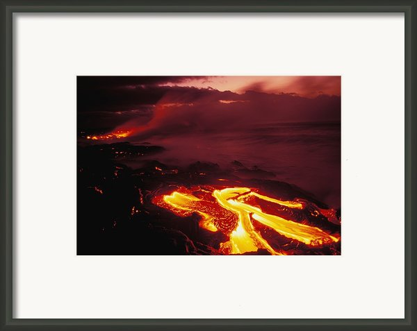 Glowing Lava Flow Framed Print By Peter French - Printscapes