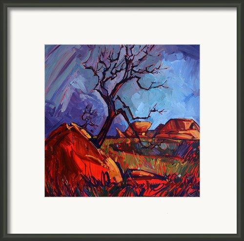 Gnarled At Joshua Framed Print By Erin Hanson