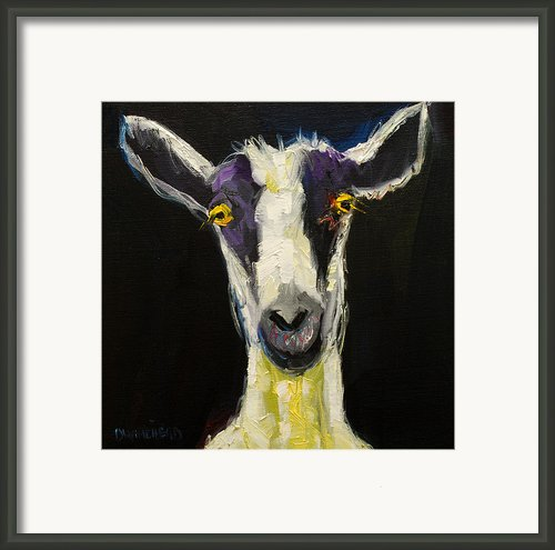 Goat Gloat Framed Print By Diane Whitehead