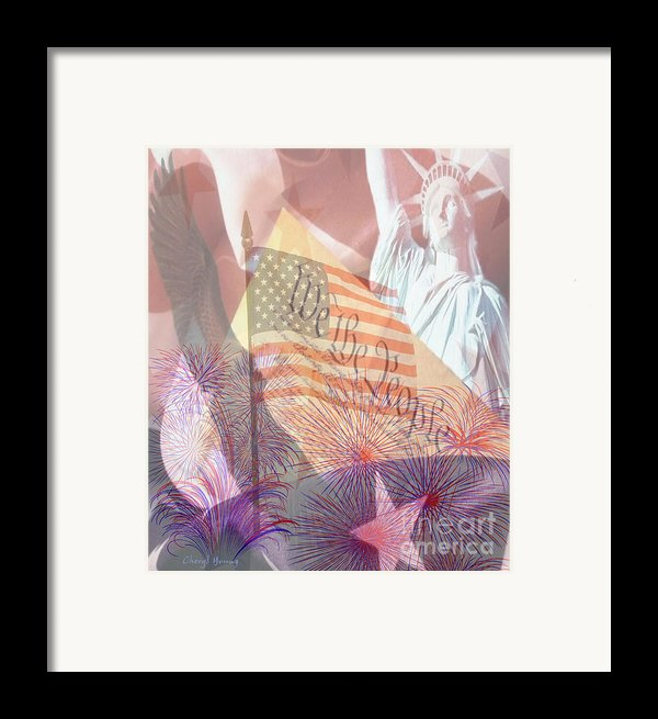God Bless The Usa Framed Print By Cheryl Young