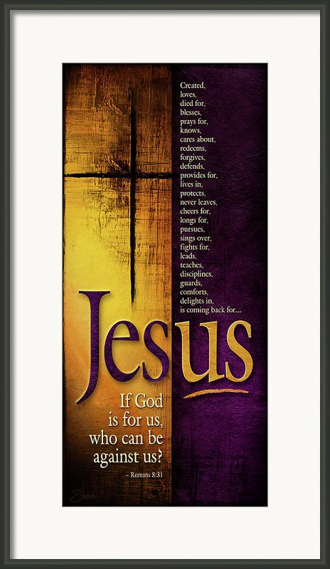 God Is For Us Framed Print By Shevon Johnson