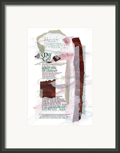 God Of Hope Framed Print By Judy Dodds