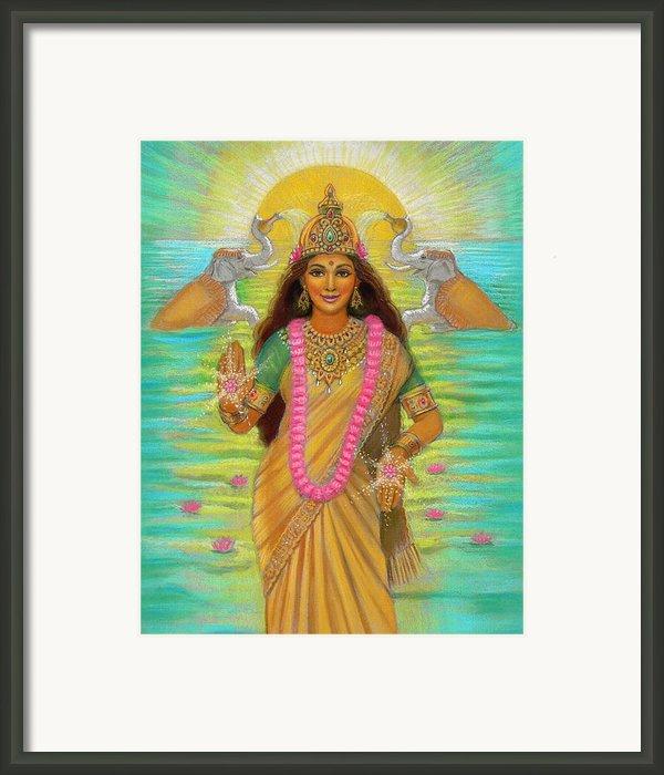 Goddess Lakshmi Framed Print By Sue Halstenberg