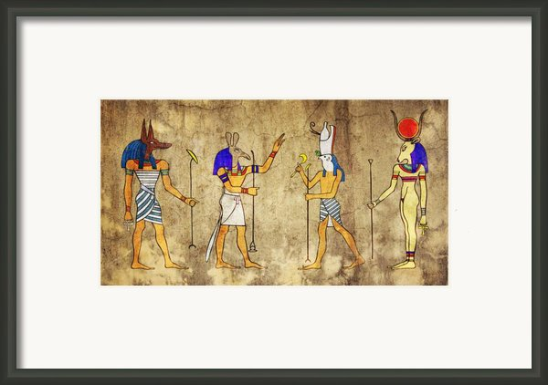 Gods Of Ancient Egypt Framed Print By Michal Boubin