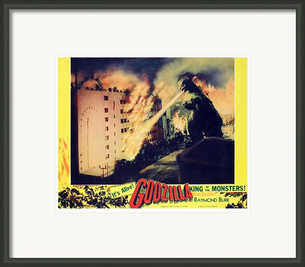 Godzilla, King Of The Monsters, 1956 Framed Print By Everett