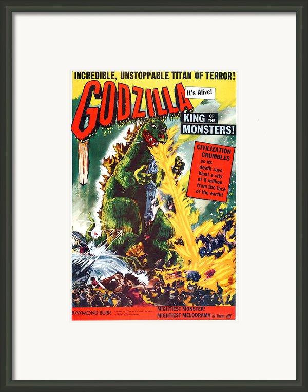 Godzilla, King Of The Monsters, Aka Framed Print By Everett