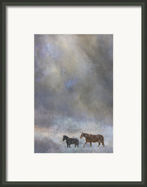 Going To Barn Framed Print By Ron Jones