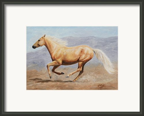 Gold Lightning Framed Print By Crista Forest