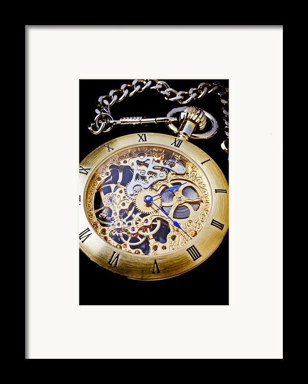 Gold Pocket Watch Framed Print By Garry Gay