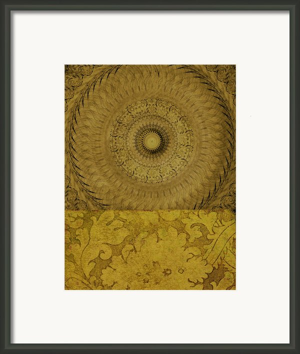 Gold Wheel I Framed Print By Ricki Mountain