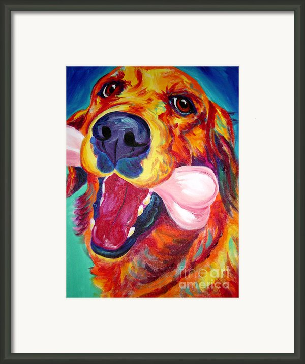 Golden - My Favorite Bone Framed Print By Alicia Vannoy Call