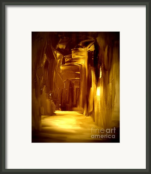 Golden Future Framed Print By Julie Lueders