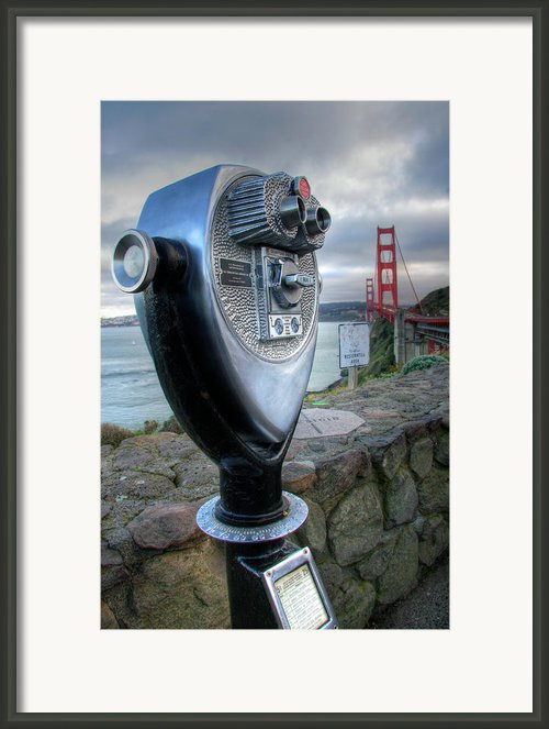 Golden Gate Binoculars Framed Print By Peter Tellone