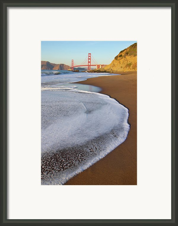 Golden Gate Bridge At Sunset Framed Print By Sean Stieper