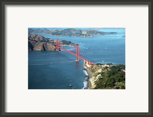 Golden Gate Bridge Framed Print By Stickney Design