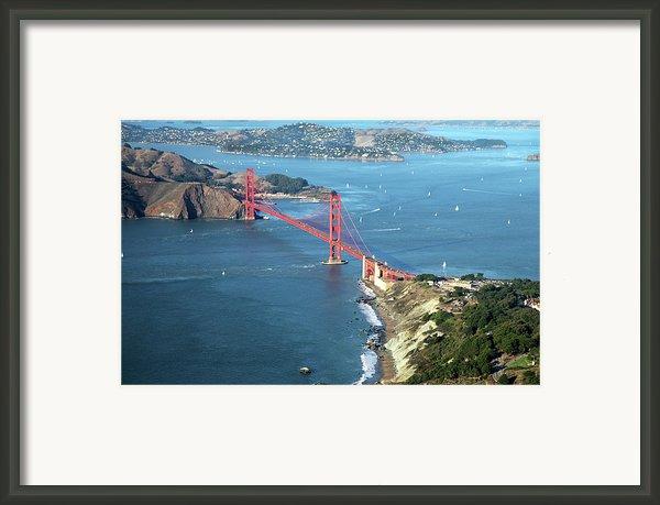 Golden Gate Bridge Framed Print By Stickney Design