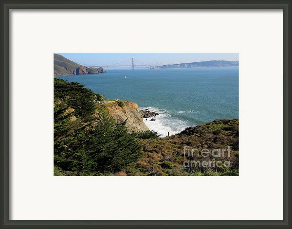 Golden Gate Bridge Viewed From The Marin Headlands Framed Print By Wingsdomain Art And Photography