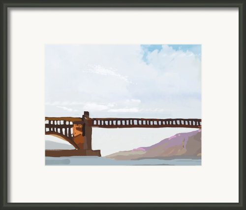 Golden Gate Two Framed Print By Brad Burns