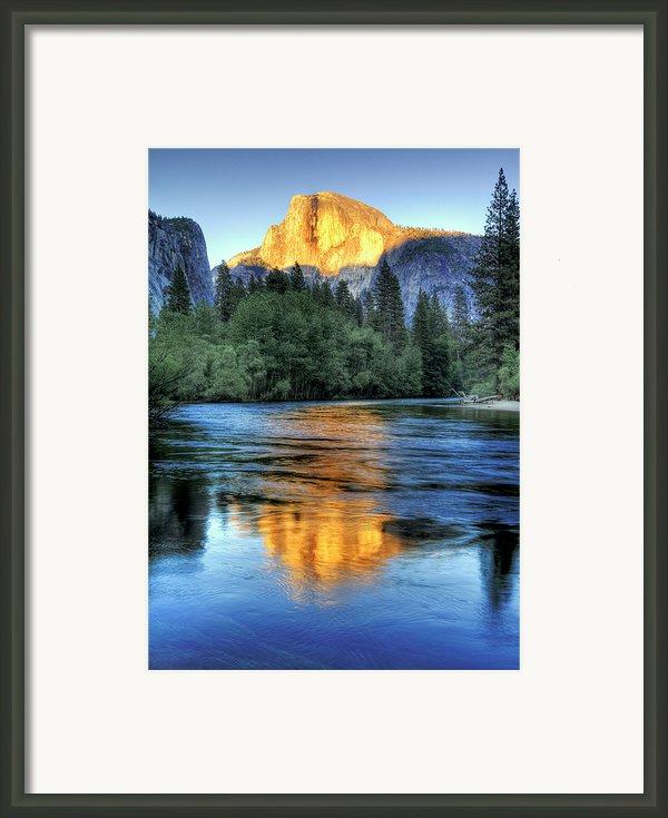 Golden Light On Half Dome Framed Print By Mimi Ditchie Photography