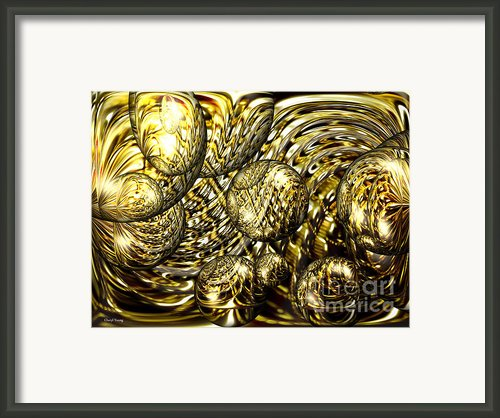 Golden Orbs Framed Print By Cheryl Young