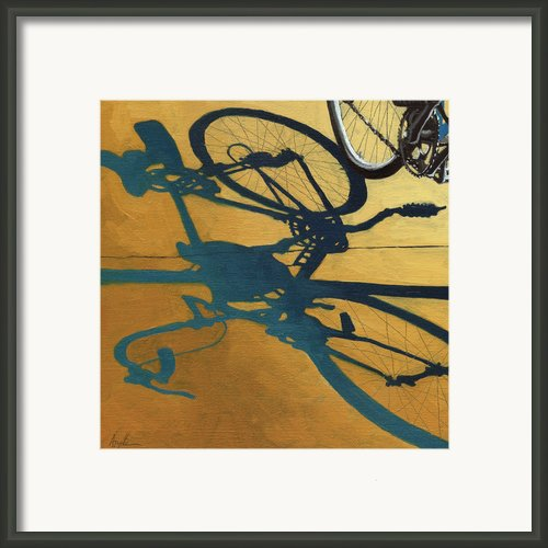 Golden Shadows - Wheels Framed Print By Linda Apple