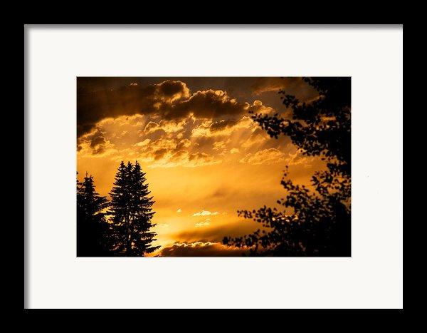 Golden Sky 2 Framed Print By Kevin Bone