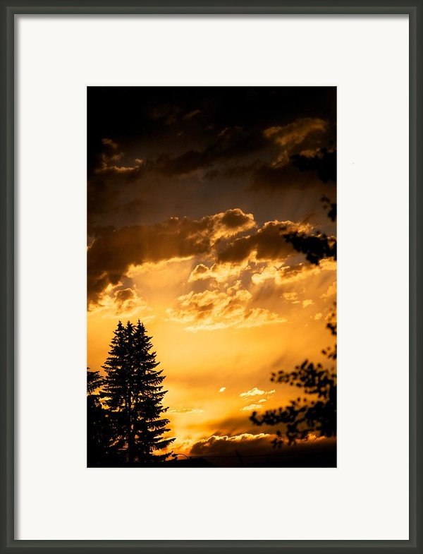 Golden Sky Framed Print By Kevin Bone