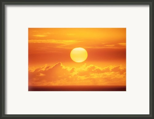 Golden Sunball Framed Print By Bob Abraham - Printscapes