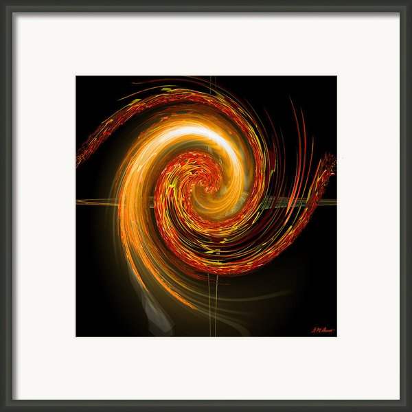 Golden Swirl Framed Print By Michael Durst