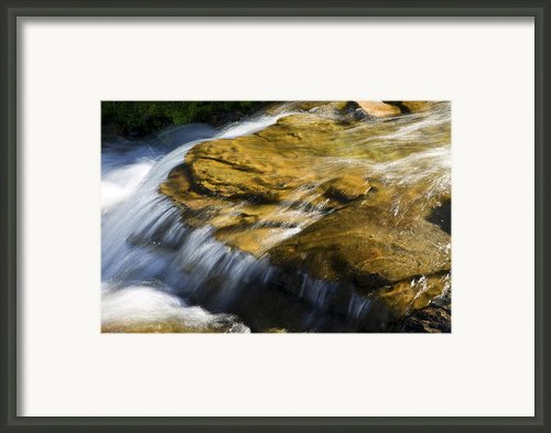 Golden Waterfall Framed Print By Rich Franco