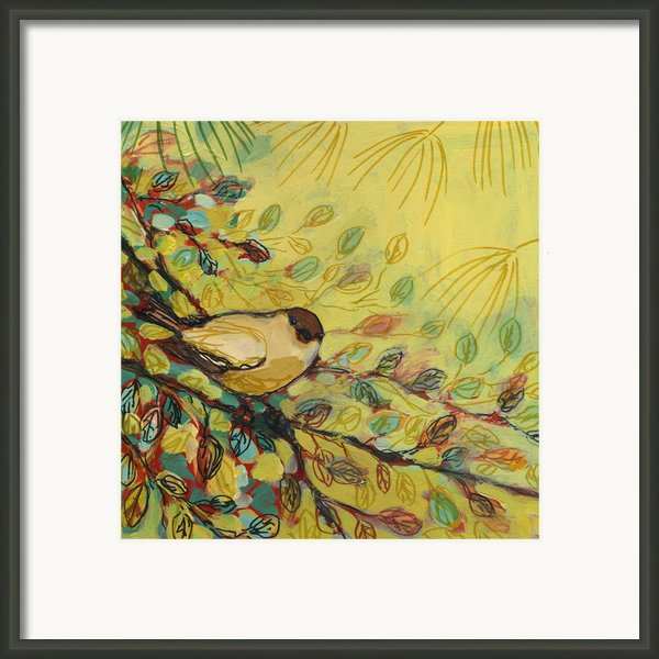 Goldfinch Waiting Framed Print By Jennifer Lommers