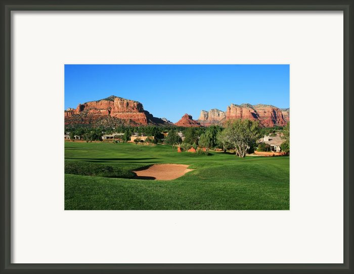 Golf In Paradise Framed Print By Gary Kaylor