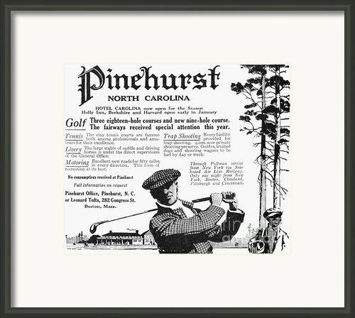 Golf: Pinehurst, 1916 Framed Print By Granger