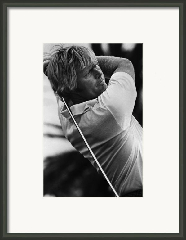Golf Pro Jack Nicklaus, 1973 Framed Print By Everett