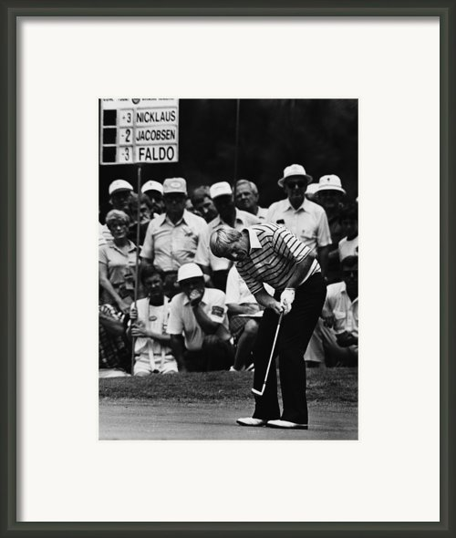 Golf Pro Jack Nicklaus, August, 1984 Framed Print By Everett