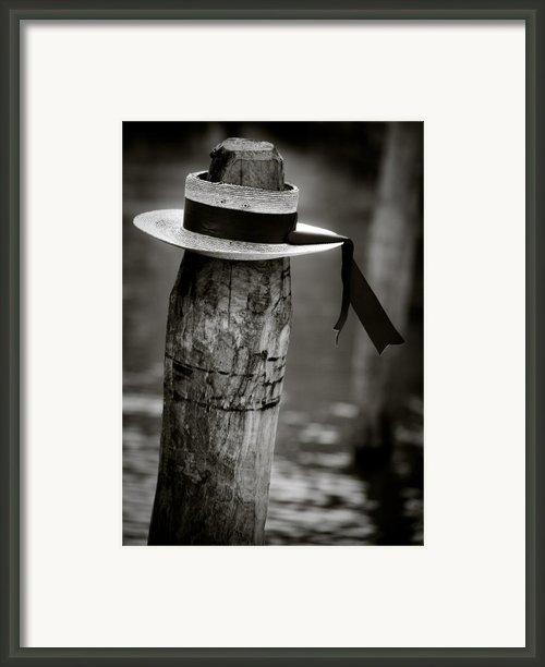 Gondolier Hat Framed Print By David Bowman