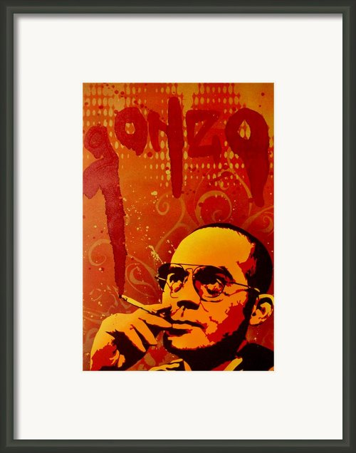 Gonzo - Hunter S. Thompson Framed Print By Iosua Tai Taeoalii
