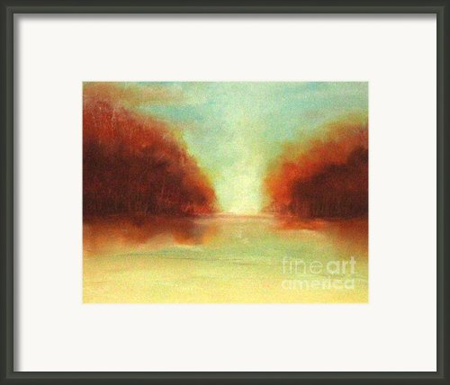 Good Earth   Haze Framed Print By Rosemarie Glennon Kliegman