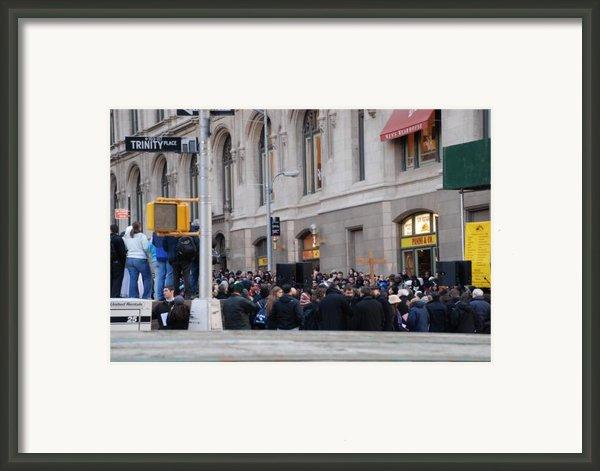 Good Friday On Trinity Place Framed Print By Rob Hans