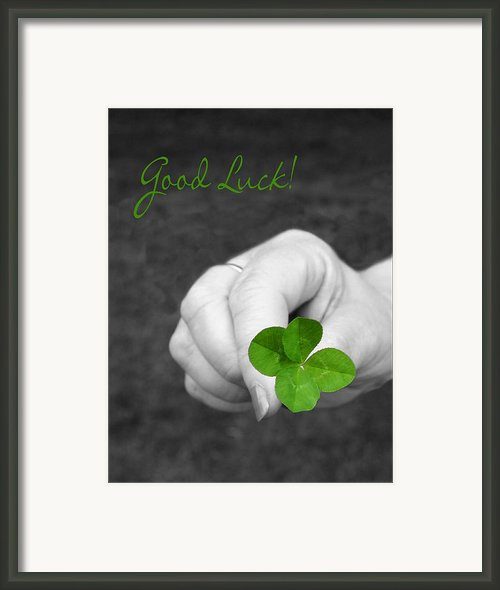 Good Luck Framed Print By Kristin Elmquist