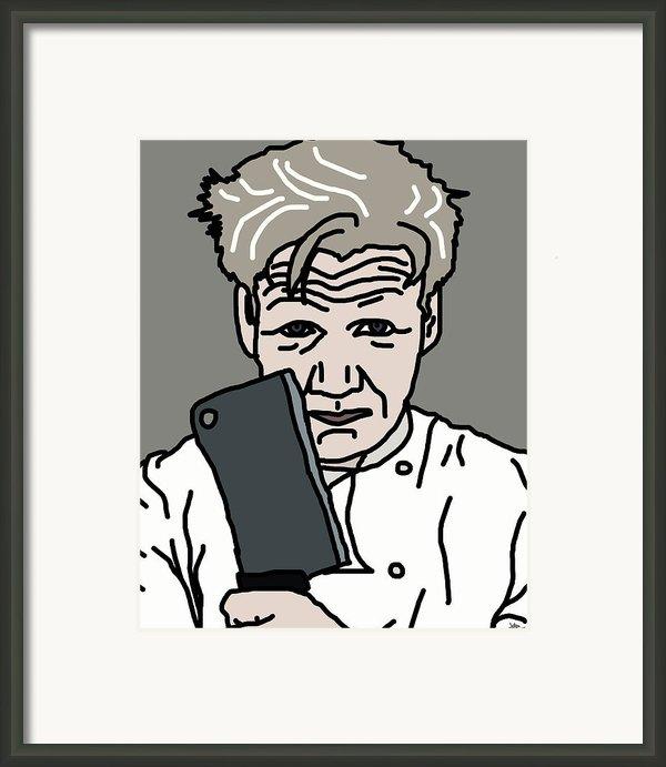 Gordon Ramsay Framed Print By Jera Sky