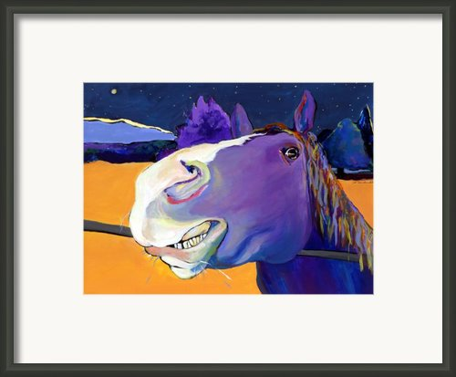 Got Oats      Framed Print By Pat Saunders-white