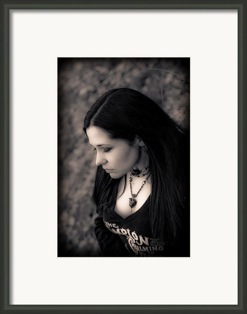 Goth At Heart - 1of 4 Framed Print By Scott  Wyatt