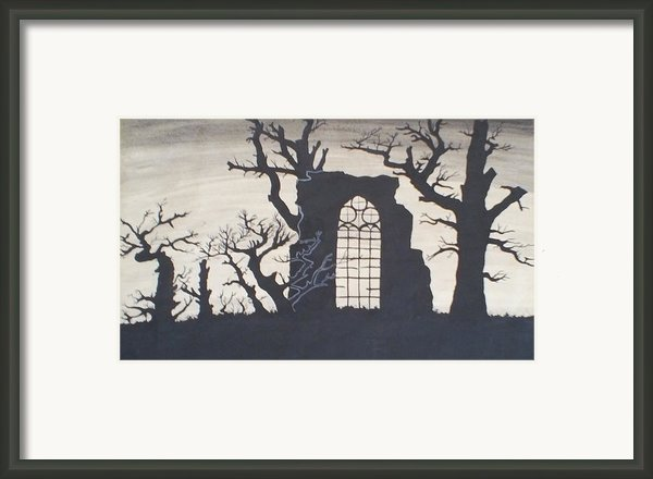Gothic Landscape Framed Print By Silvie Kendall