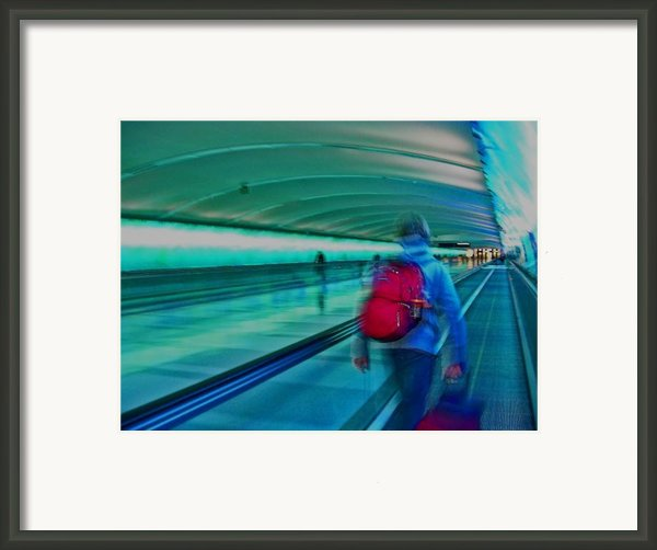 Gotta Catch My Plane Framed Print By Elizabeth Hoskinson