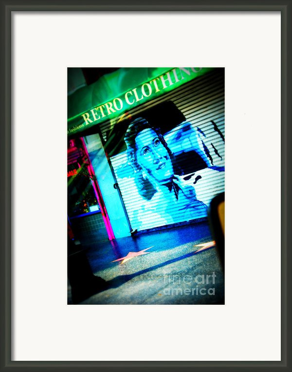 Grab A Star On Sunset Boulevard In Hollywood Framed Print By Susanne Van Hulst