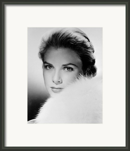 Grace Kelly, Circa 1950s Framed Print By Everett