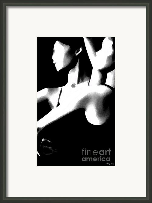 Graceful Framed Print By Cheryl Young