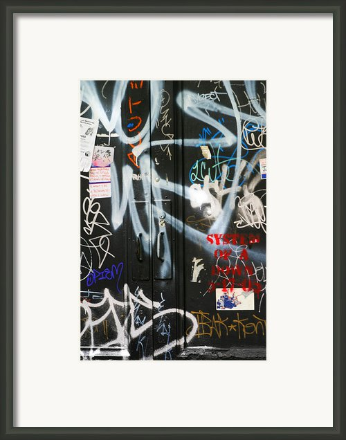 Graffiti  Framed Print By Chuck Kuhn